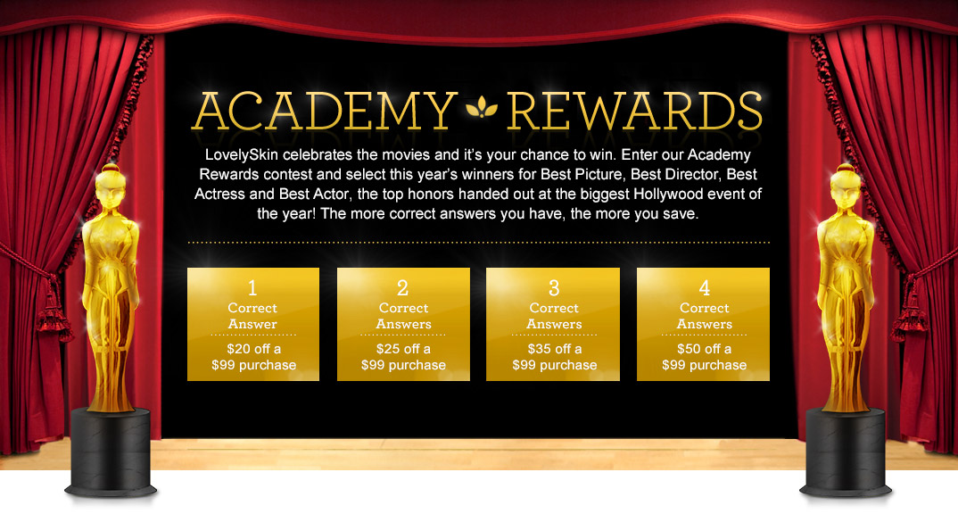 Academy Rewards - the more correct answers you have, the more you save.